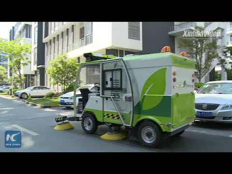 World's first! Driverless sweeper trucks on trial run in Shanghai