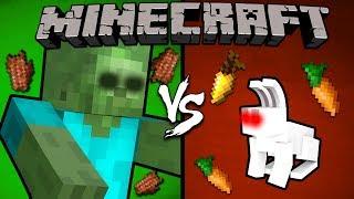 Giant vs. Killer Bunny - Minecraft