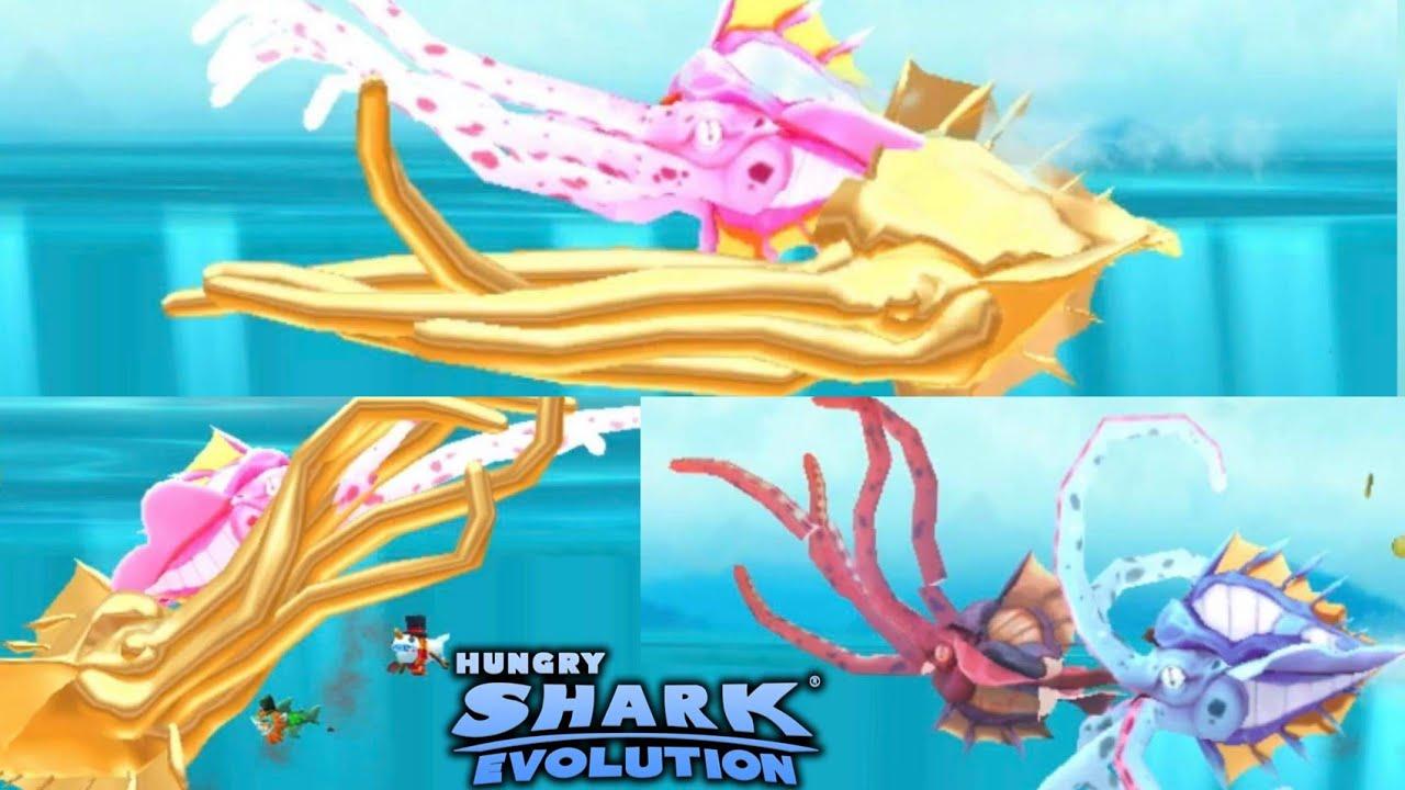Kraken Vs Abysshark Hungry Shark Evolution Youtube