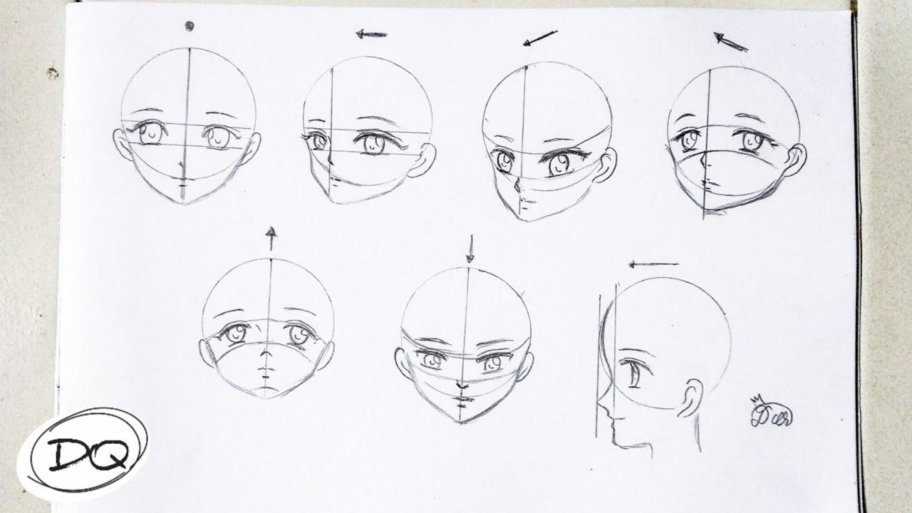 Cara Gampang Menggambar Wajah Kepala Anime Dari Samping Atas Bawah Untuk Pemula Youtube