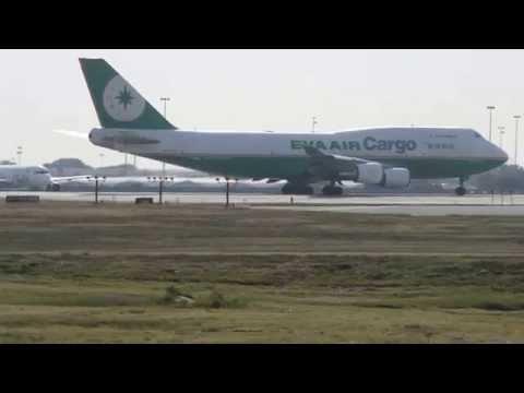 Eva Air Cargo 747-400SF B-16462 Takeoff at DFW