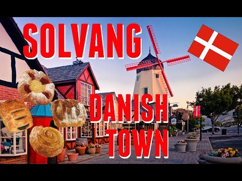 The Best Danish Pastry In California!!! Solvang, Santa Barbara, California Travel VLOG 2017