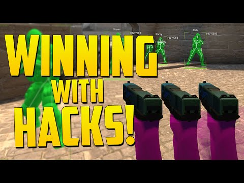 WINNING WITH HACKS! - CS GO Overwatch Funny Moments