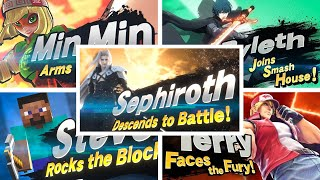Super Smash Bros Ultimate - All Newcomers Trailers Including Sephiroth