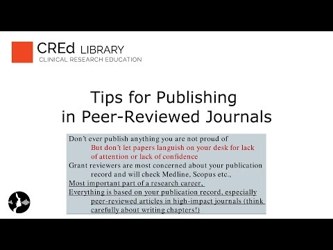Tips for Publishing in Peer-Reviewed Journals: Building Your Research Career