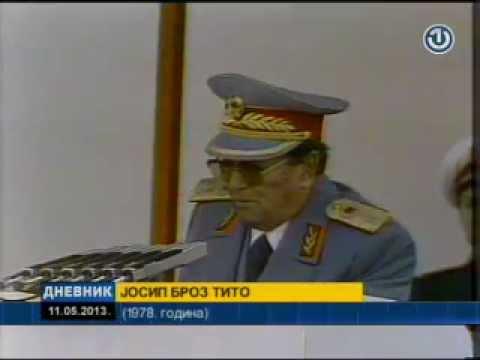 Marshal Josip Broz Tito Govori  Uzivo 1978 Godine Bitka na Neretvi Marshal Speaks Live Last Time JBT