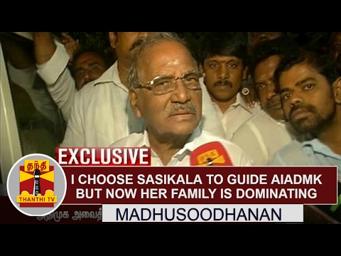 Exclusive: I Choose Sasikala to guide AIADMK, But now her family is dominating - Madhusoodhanan