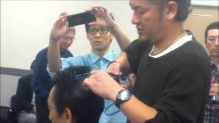 菅原和也先生の技術講習会、アシスト・アイロンパーマで中高年をターゲ...