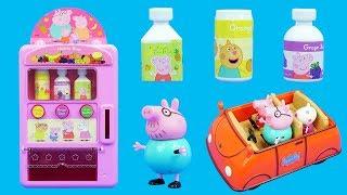 佩佩豬去買飲料的兒童故事  Peppa Pig Buy Drinks Story