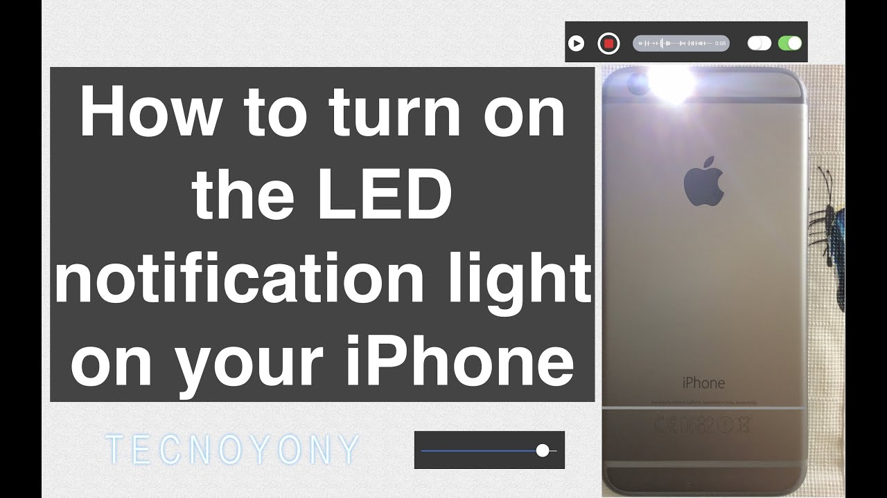 Lovely How To Turn On The LED Notification Light On Your IPhone Good Ideas