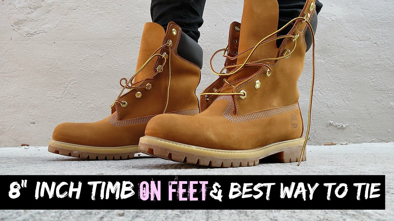 8 timberland on feet the best way to lace tie wear youtube