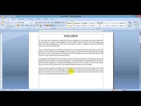 Cara Cepat Belajar Microsoft Word Dengan Kombinasi Tombol dan Shortcut
