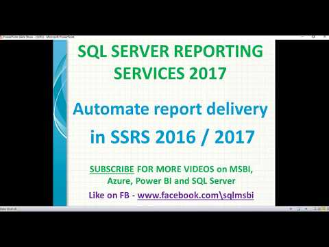 Automatic Report Delivery In SSRS   Email Subscriptions In Ssrs 2016 / 2017