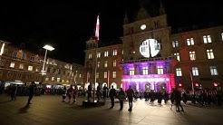 Österreichische Bundeshymne (HD) - Nationalfeiertag Flaggenparade in Graz