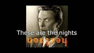 Slow Burn | David Bowie + Lyrics