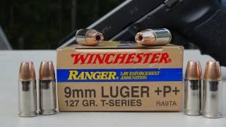 Winchester Ranger T-Series 9mm +P+ 127 gr JHP AMMO TEST