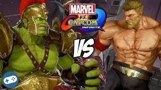 MARVEL VS CAPCOM INFINITE Gladiator Hulk VS Warrior Thor Gameplay