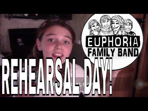 BAND REHEARSAL IN A TRAILER! DAD FORGOT HIS SHIRT! Sugar Sugar, - Euphoria Family Band 14