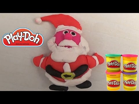 play doh santa claus toys for kids christmas father play doh tutorial youtube. Black Bedroom Furniture Sets. Home Design Ideas