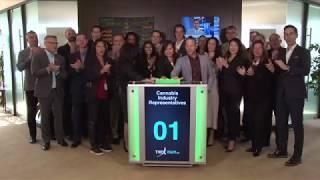 Cannabis Industry Representatives Close Toronto Stock Exchange, October 17, 2018