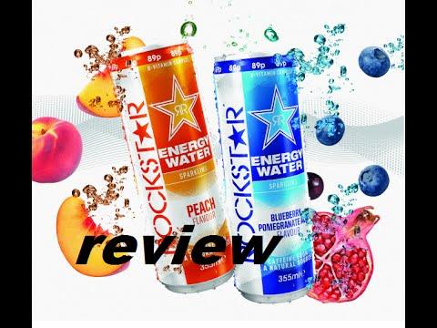Rockstar energy water peach flavour