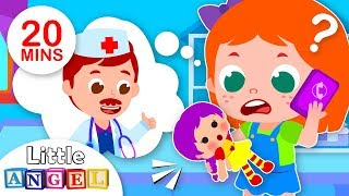 Miss Polly Had a Dolly | Baby Goes to the Doctor | Kids Songs & Nursery Rhymes by Little Angel