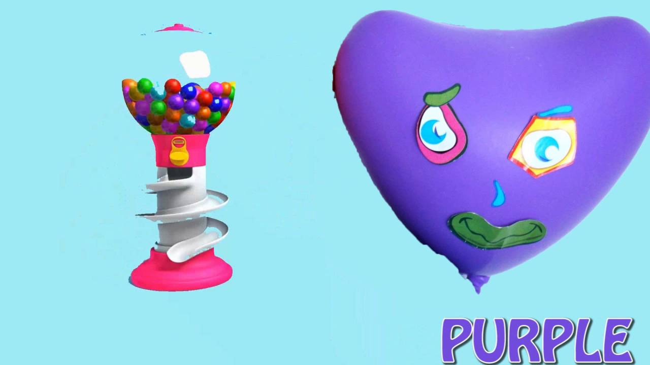 Funny balloon faces - 5 Faces Wet Balloons Collection Funny Heart Water Balloon Finger Song Learn Colors Nursery Rhyme