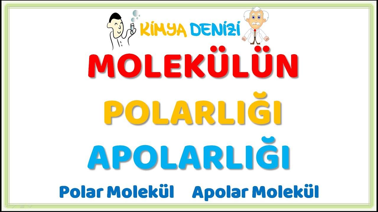 ZAYIF ETKİLEŞİMLER 1 Molekülün Polarlığı Apolarlığı ...