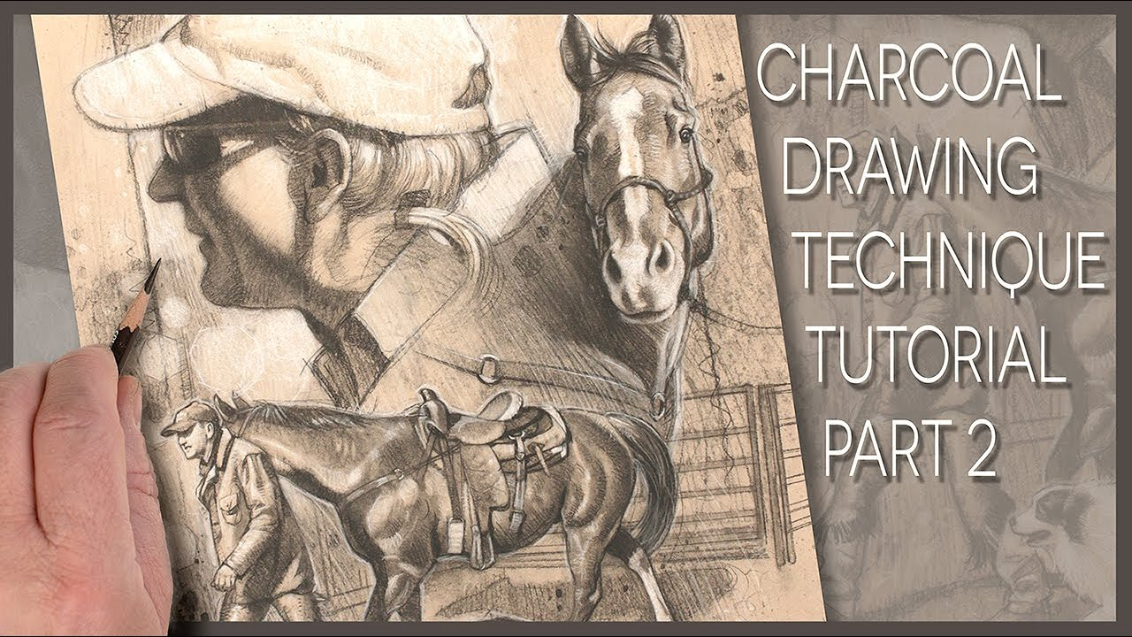 Up Your Charcoal Drawing Skills_Step by Step part 2!