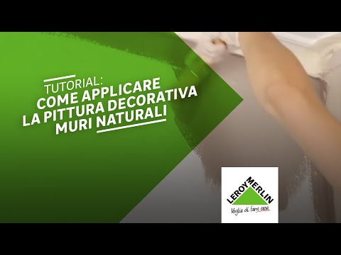 Come applicare la pittura decorativa muri naturali leroy for Pittura lavabile prezzi leroy merlin