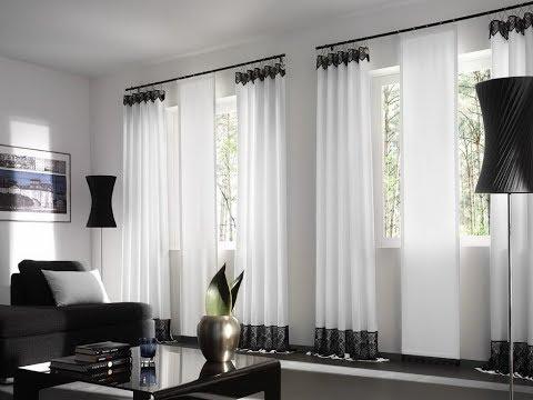 Living comedor con cortinas modernas — Foto de stock © belchonock ...