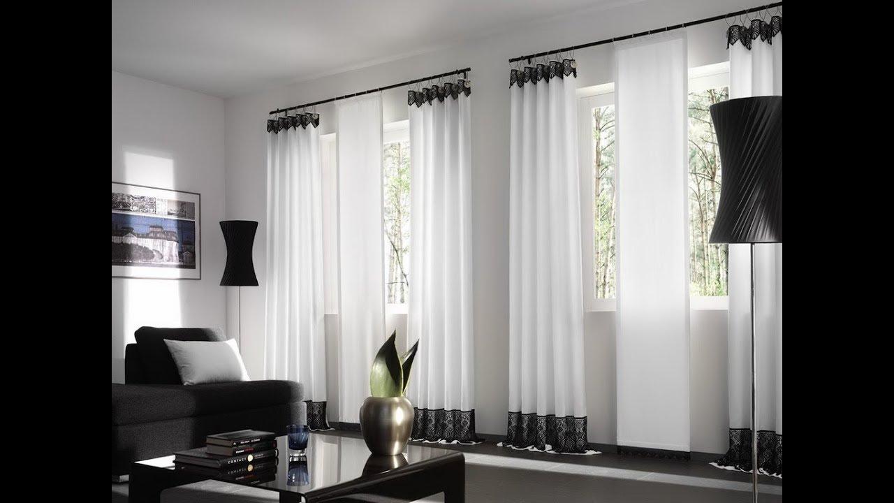 50 Impresionantes diseños de cortinas para sala de estar ...