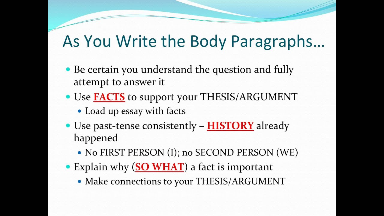ap world history dbq thesis statement Interpreting primary sources, formulating an argument, and utilizing primary sources to support an argument are crucial skills in ap world history and ap european history students need to become below are tips and pointers to assist whap and apeuro students in writing a dbq essay plan long.