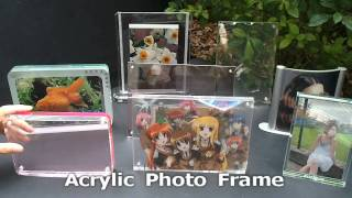 Acrylic Photo Frame with MP4 format