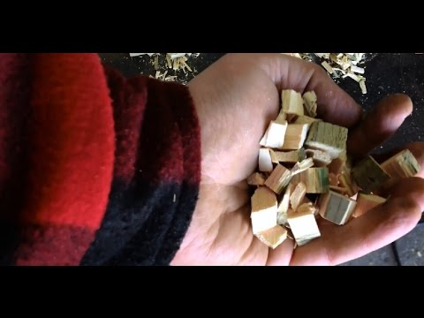 homemade  wood chips for wood gasifier