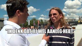 Bondscoach Nederlands Skateboardteam leert verslaggever lesje