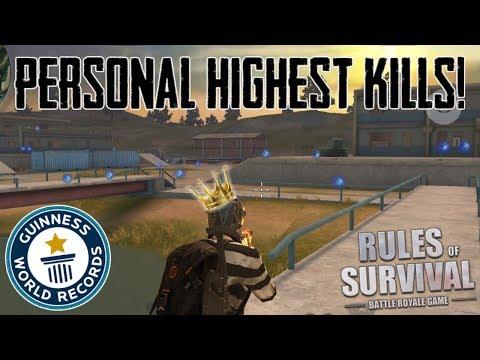 PERSONAL SOLO KILL RECORD! - HIGHEST KILL GAME! (Rules of Survival)