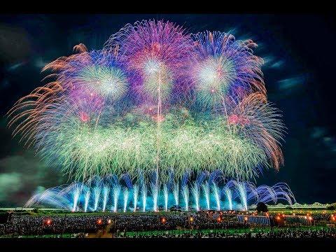 長岡花火大会  天地人花火 2019 野村花火工業 [4k] Nagaoka Fireworks Festival Japan