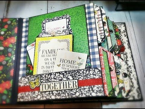 """Tutorial #1 Mini Album """"Our Family """" Carta Bella  ( DT CCC )"""