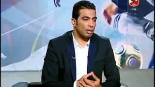 تعليق احمد بلال و امير عبد الحميد على دولاب بطولات الاهلى