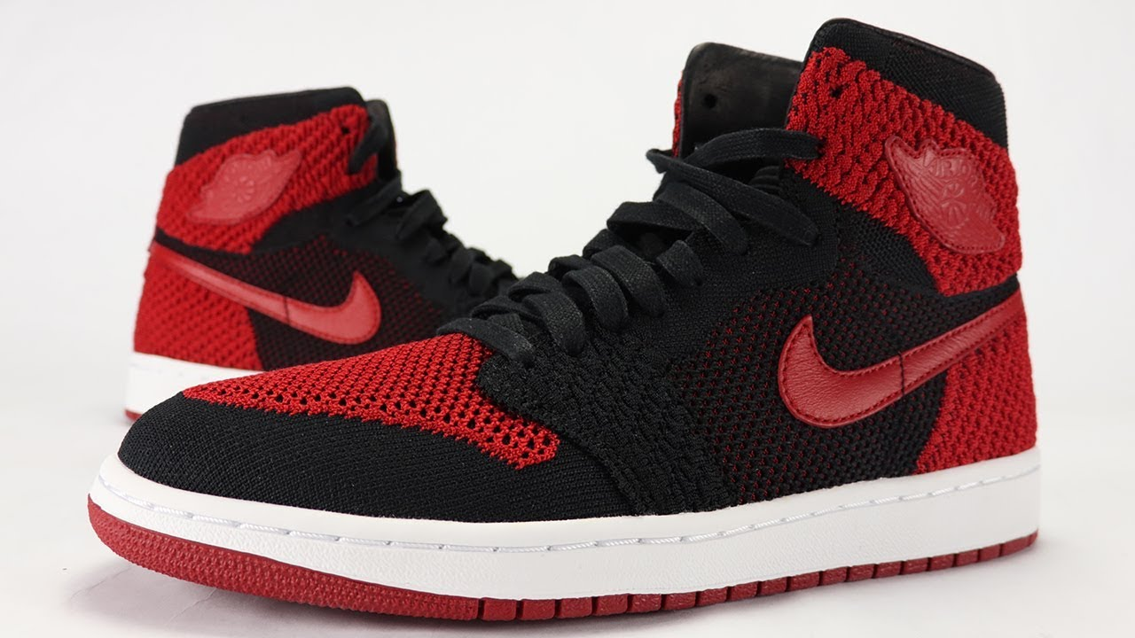 063b7d567aaa AIR JORDAN 1 FLYKNIT BANNED - BRED REVIEW - YouTube
