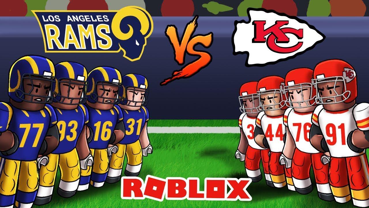 Roblox Nfl Football Chiefs Vs Rams Roblox Nfl 2 Youtube