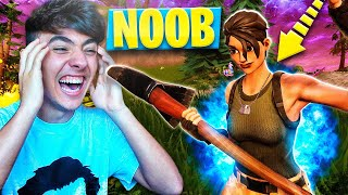 SIENDO NOOB POR UN DÍA en FORTNITE: Battle Royale!! - Agustin51