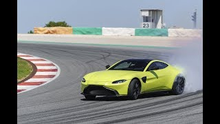 Onboard Drift New Aston Martin Vantage (2018) at Circuit Portimao