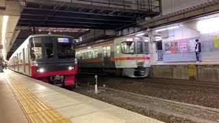 【名鉄3150系+2200系】185レ特急岐阜行 3152F+2211F 金山発車シーン