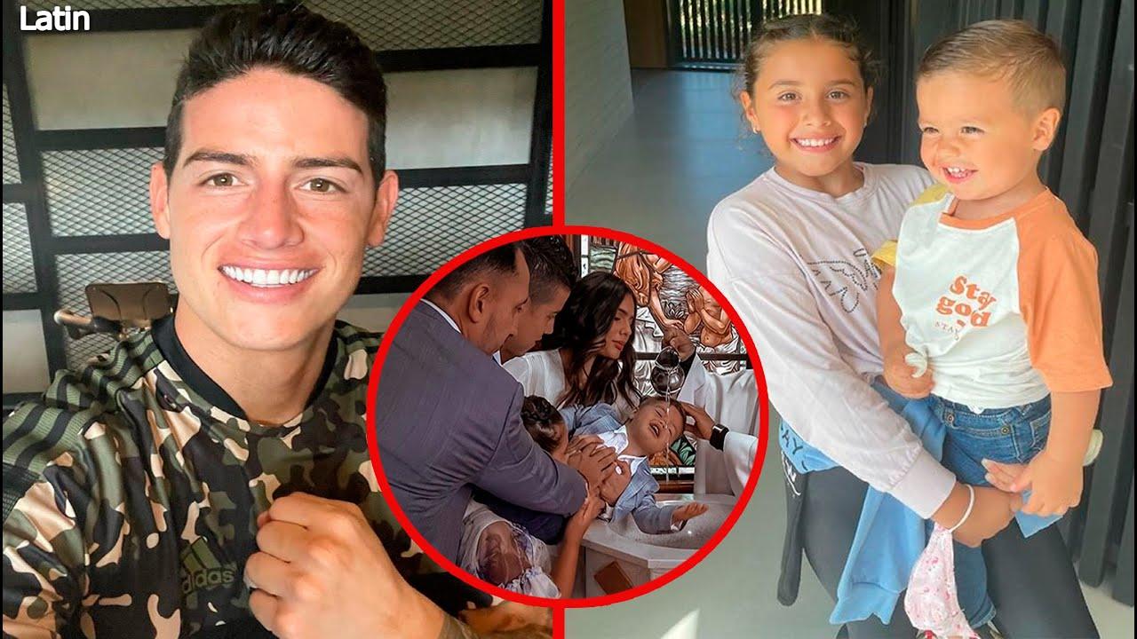 Así Celebró James Rodríguez El Bautizo De Su Hijo Samuel Junto A Su Hija Salome