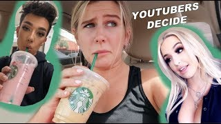 YOUTUBERS decide my STARBUCKS drinks for a week!