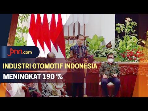 Jokowi Ungkap Penyebab Industri Otomotif Indonesia Naik 190 Persen