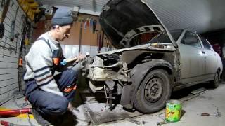 Кузовной ремонт 2110 часть 1