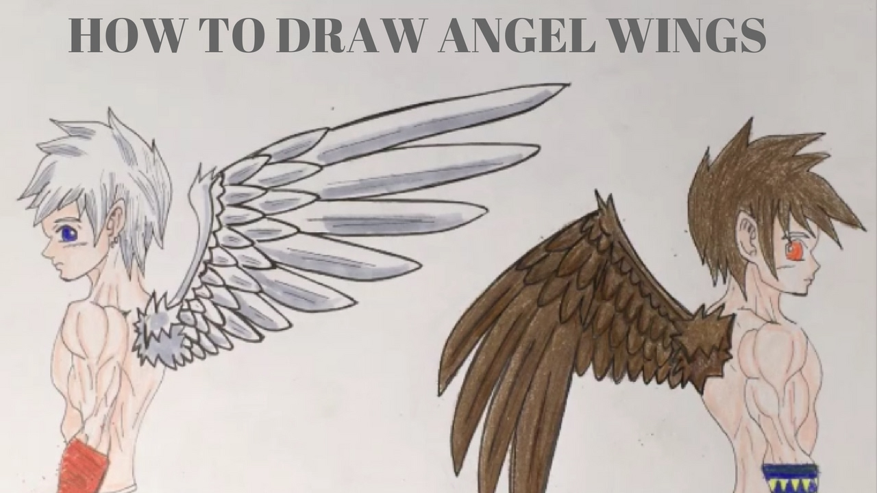 How To Draw Angel Wings Manga Style Youtube
